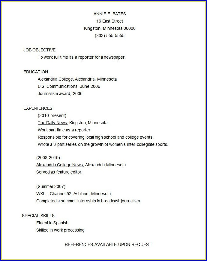 Functional Resume Templates Free Download