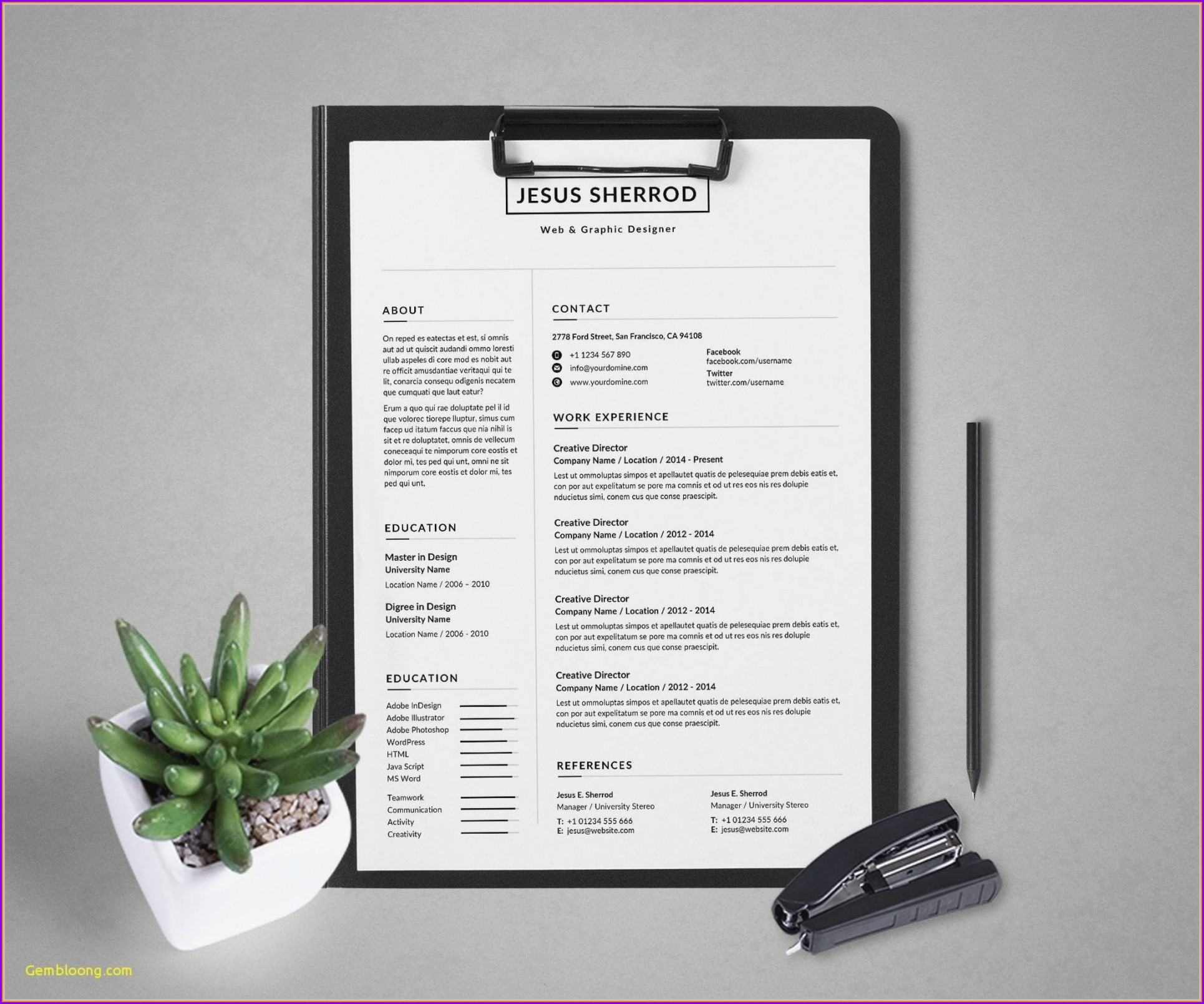 Microsoft Office Word Resume Templates 2014