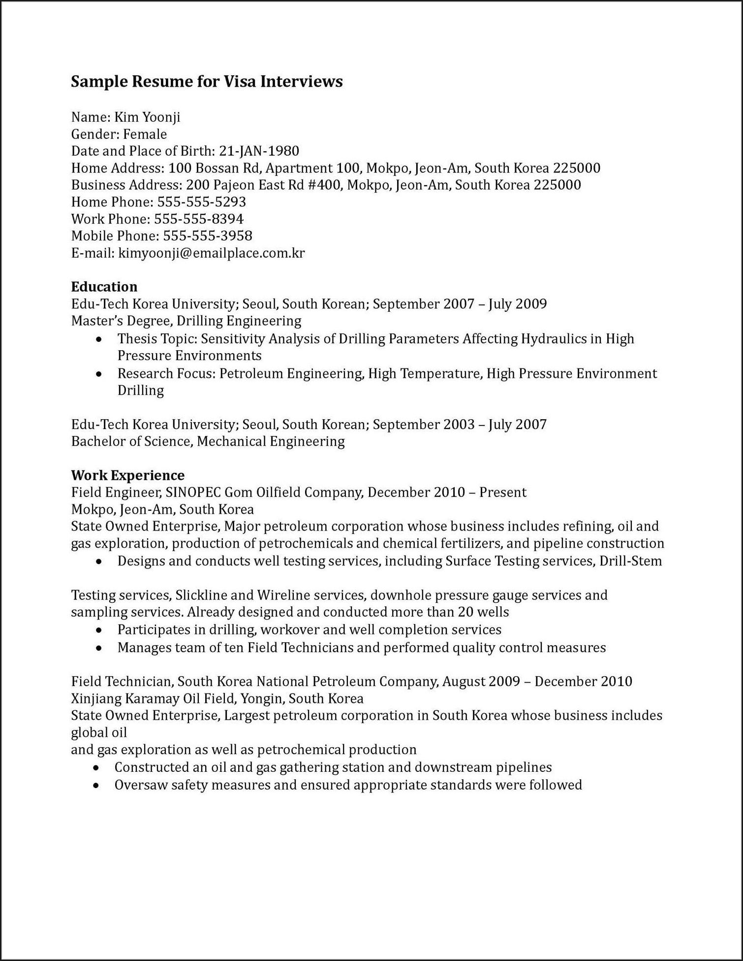 Mobile Testing Engineer Resume