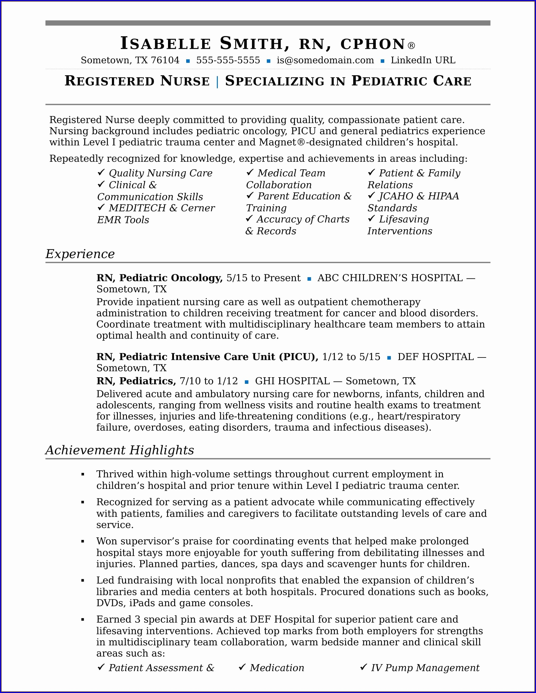 Printable High School Resume Templates