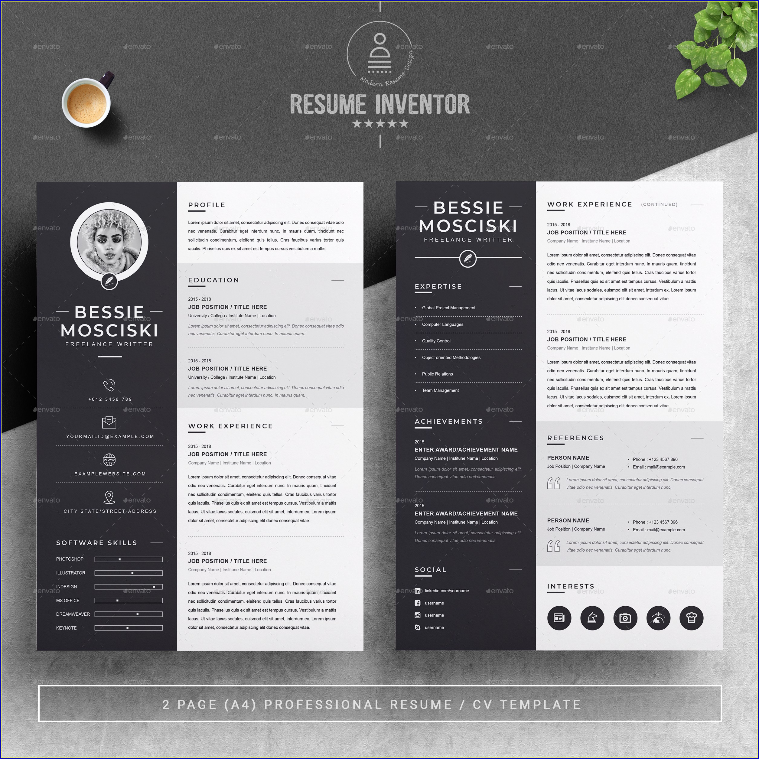 Printable Professional Cv Template Free