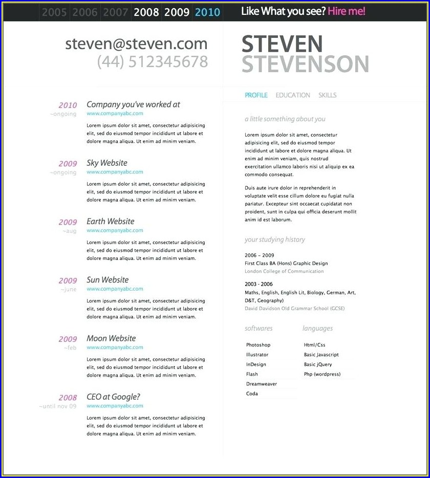 Printable Word Document Free Resume Templates