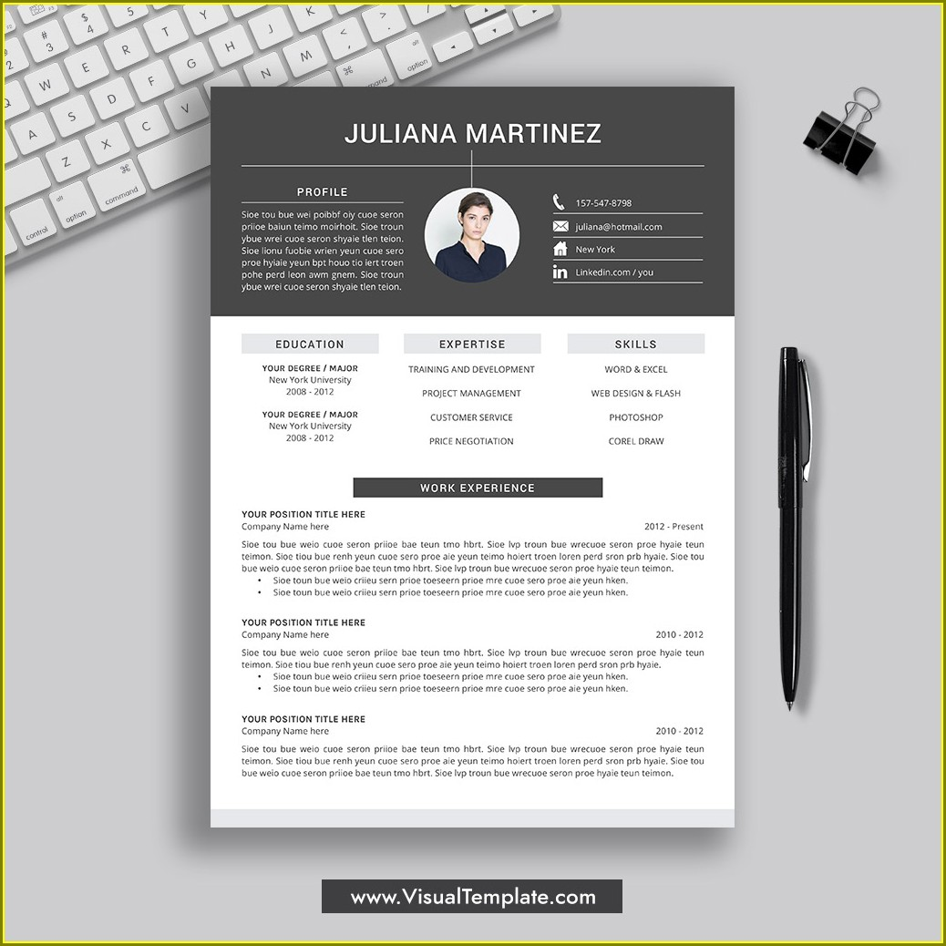 Professional Modern Cv Template Word Free Download