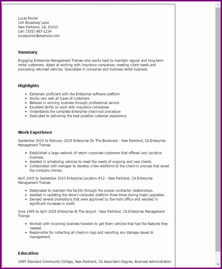Professional Nurse Cv Sample