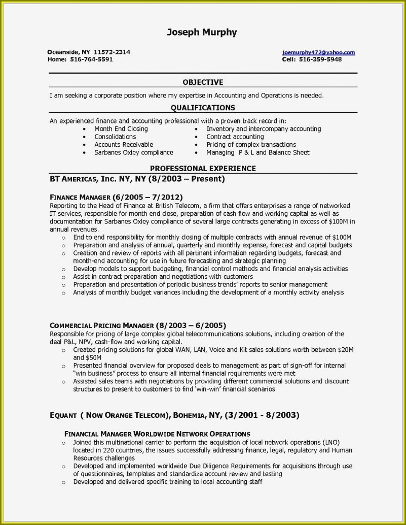 Resume Examples For Accounts Receivable