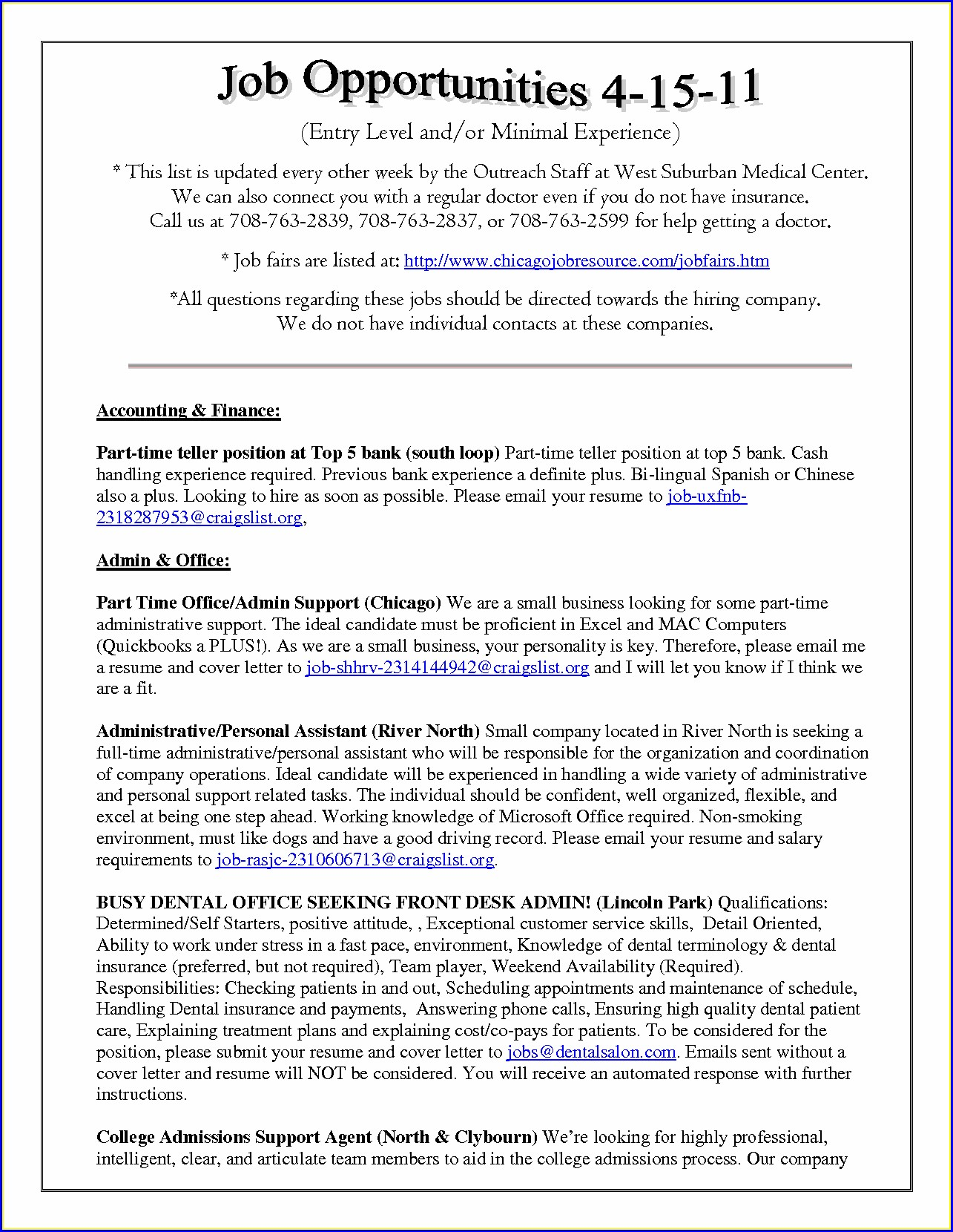 Resume Examples For Cna Jobs