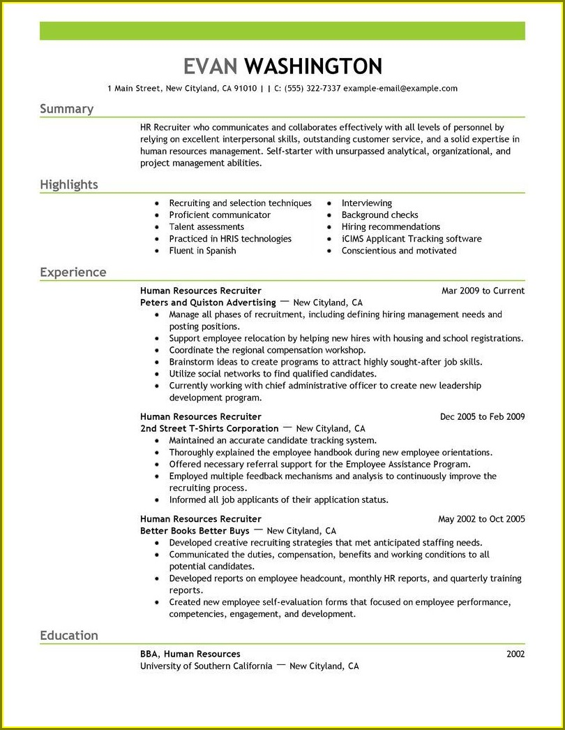 Resume Examples For Safety Professionals