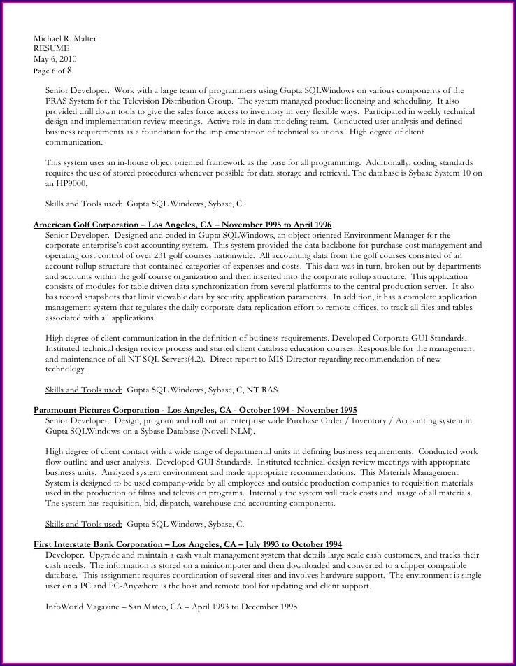 Resume Format Download In Ms Word 2017
