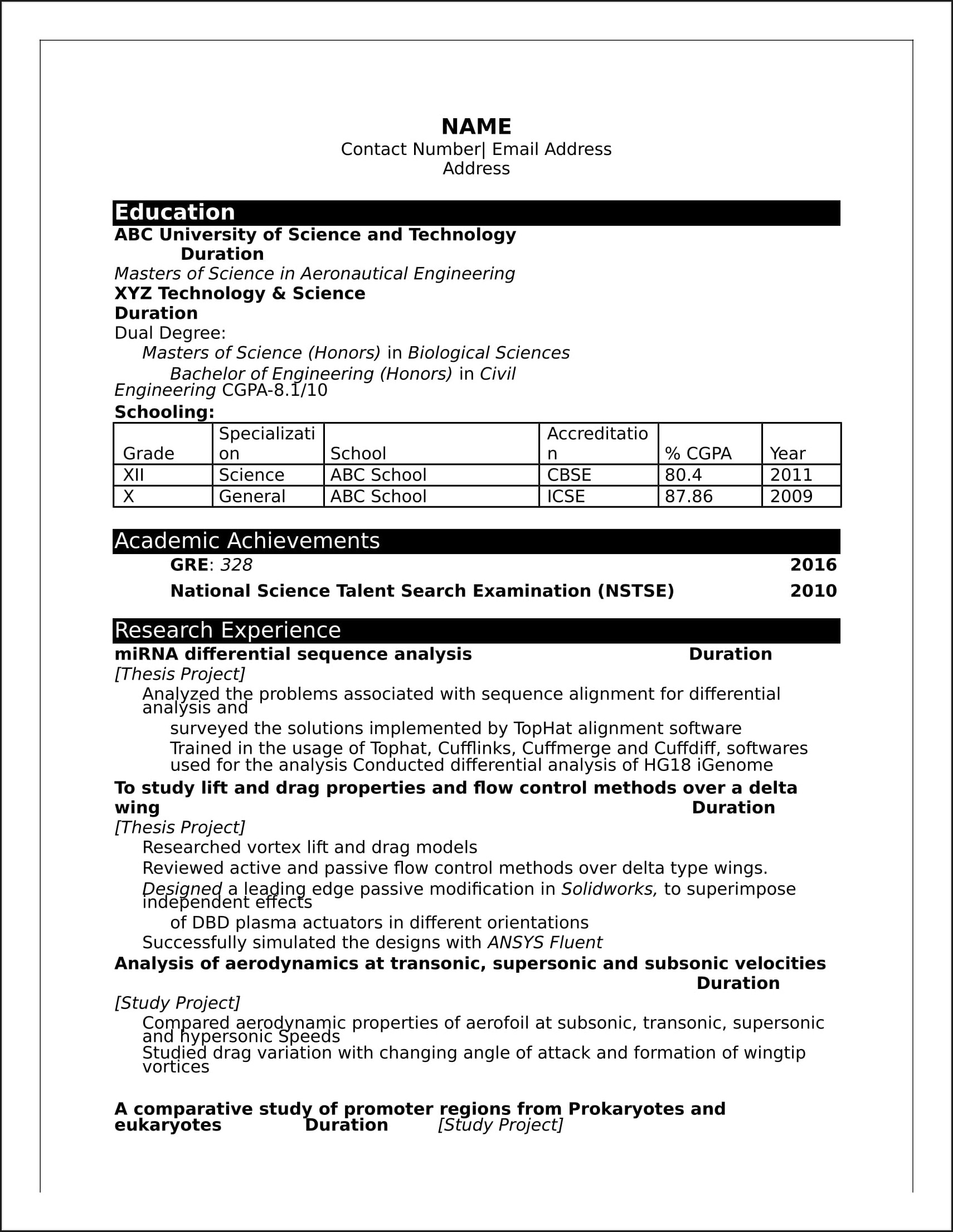Resume Model For Freshers Engineers Pdf