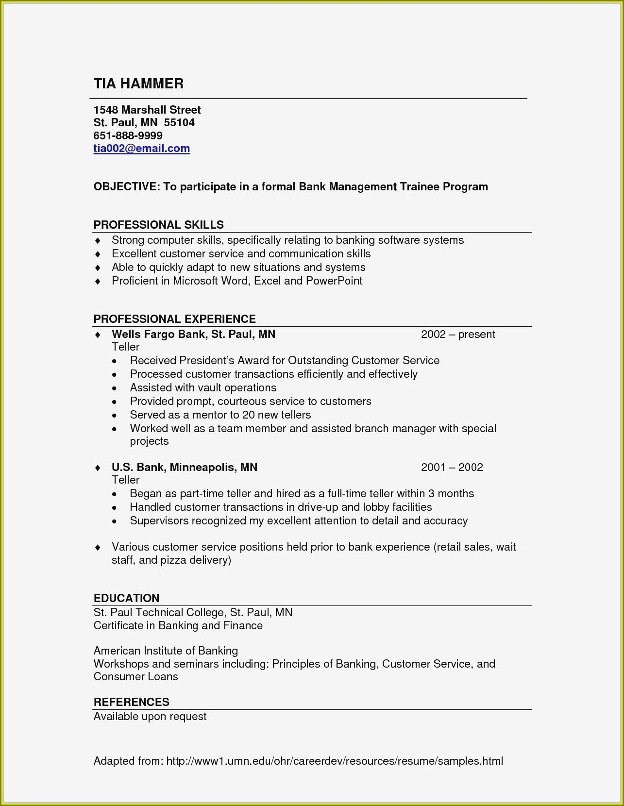 Resume Sample For Sales Executive
