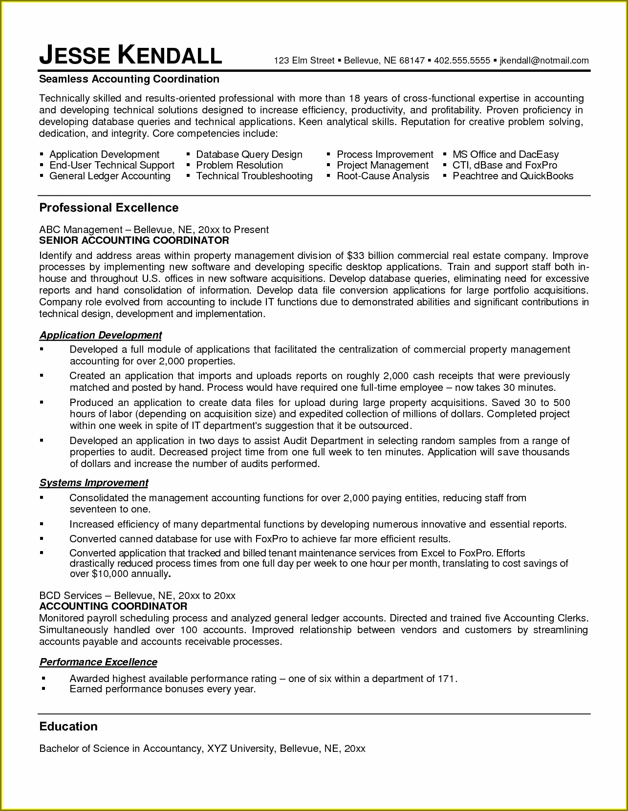 Resume Samples For Accountant Assistant