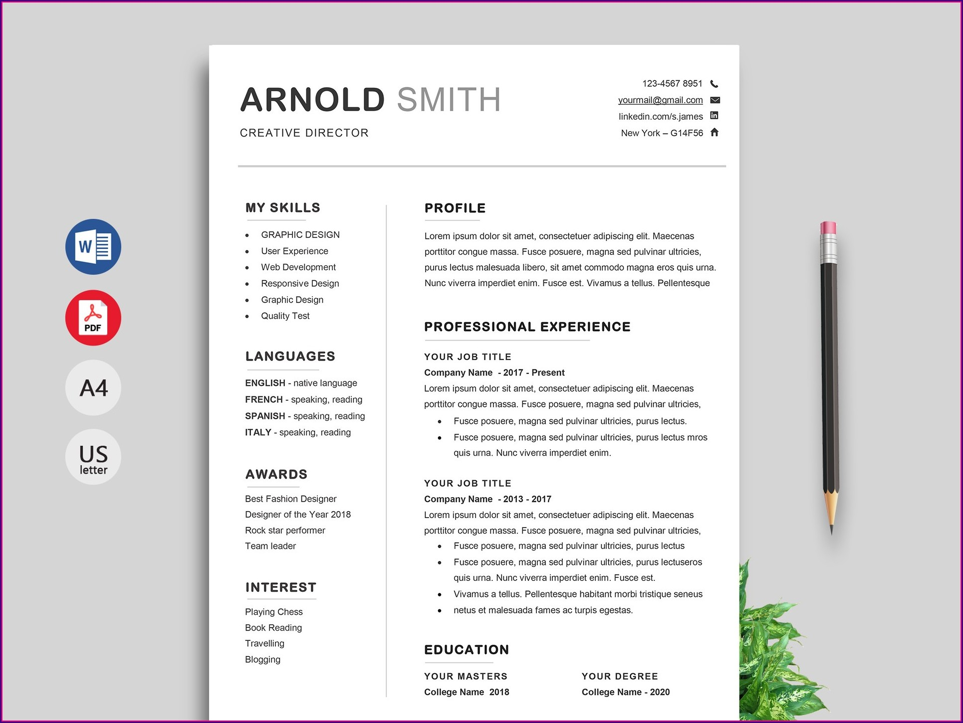 Resume Samples Free Download Doc
