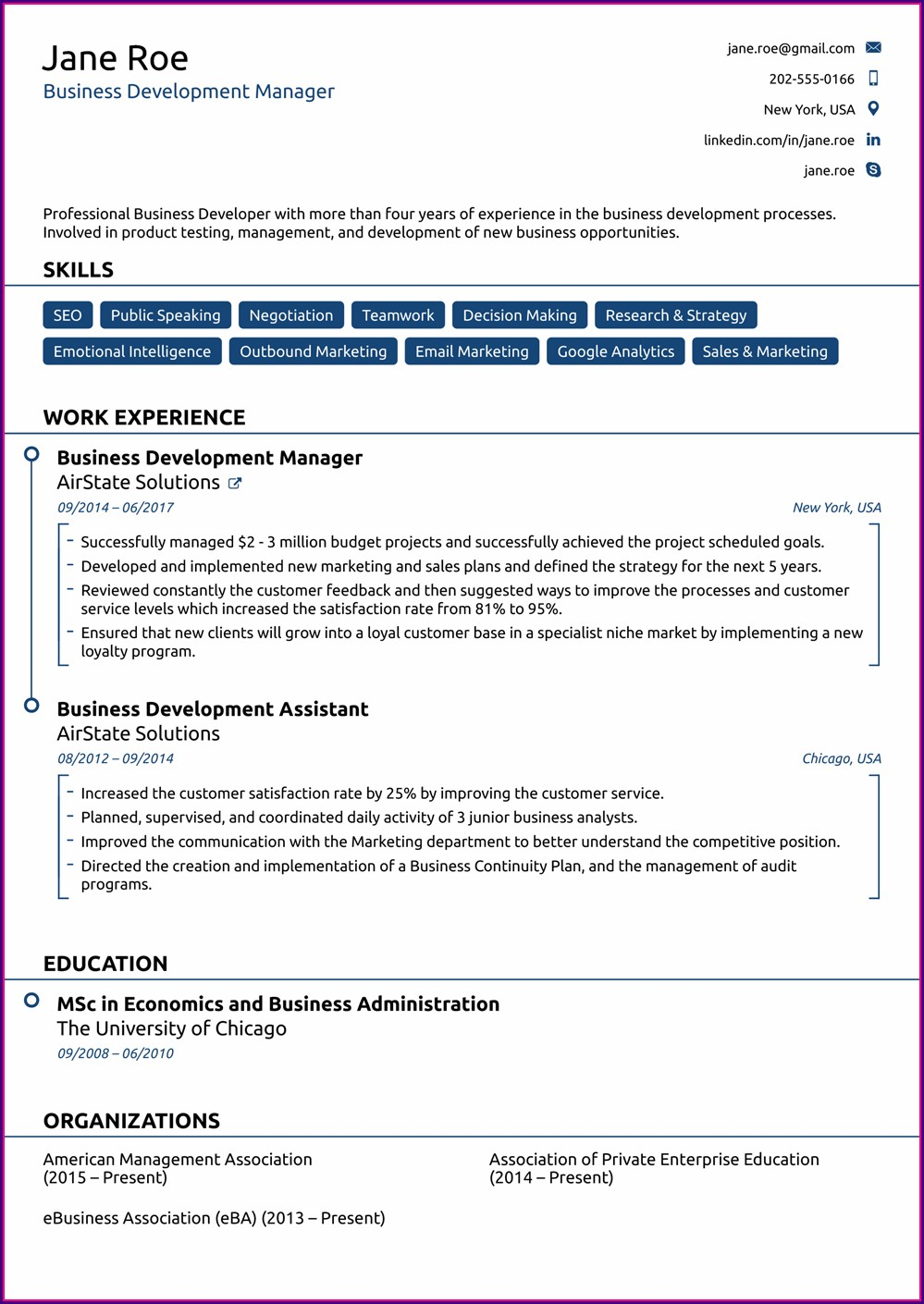 Resume Samples Free Download Word