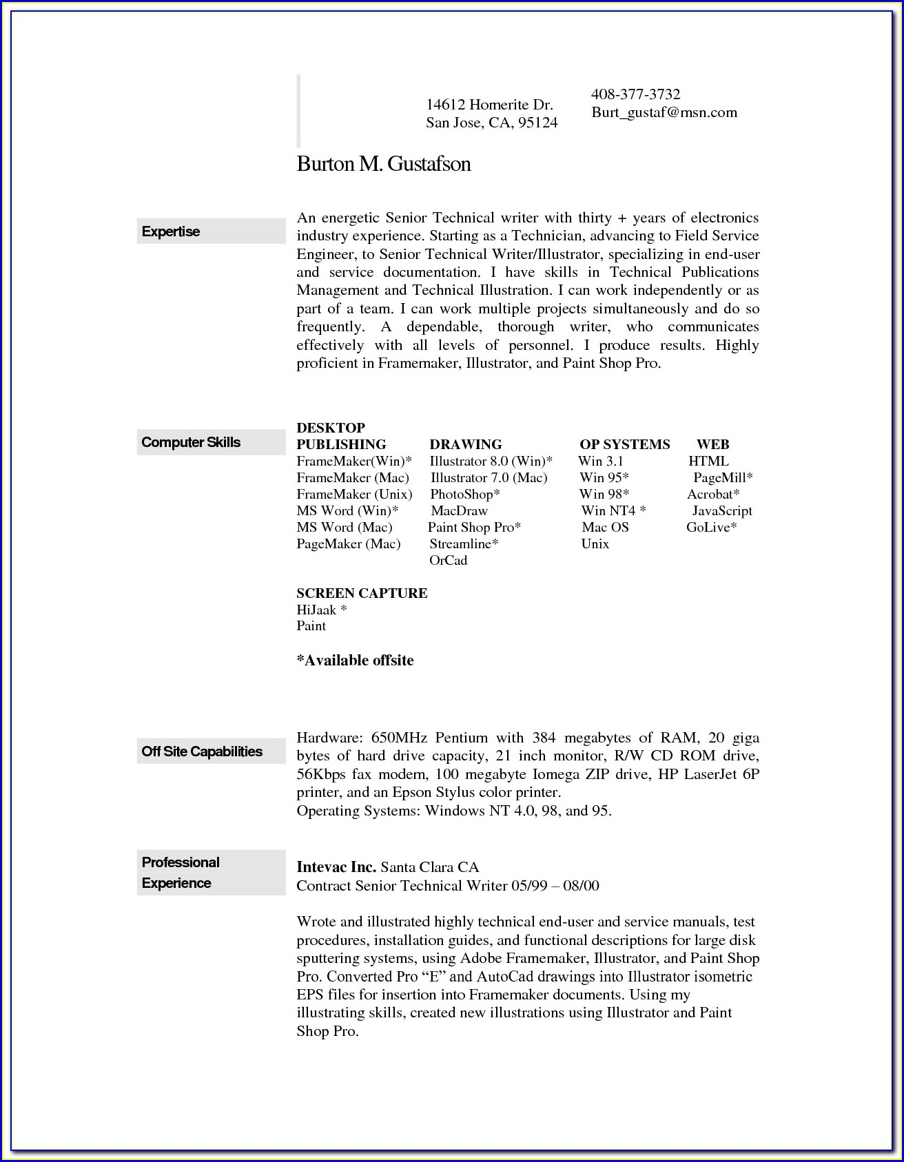how to download a resume template for mac