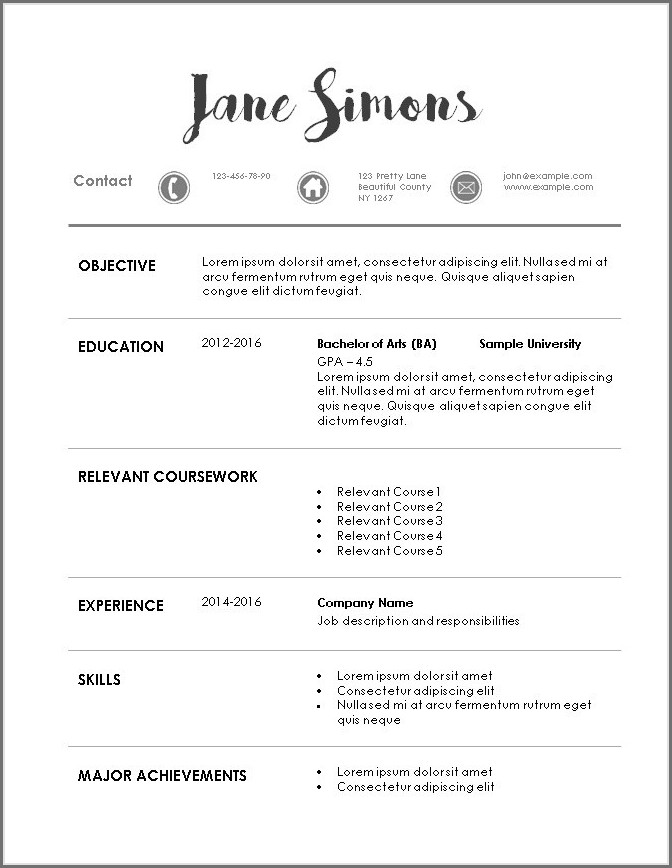 Resume Templates For Healthcare Professionals