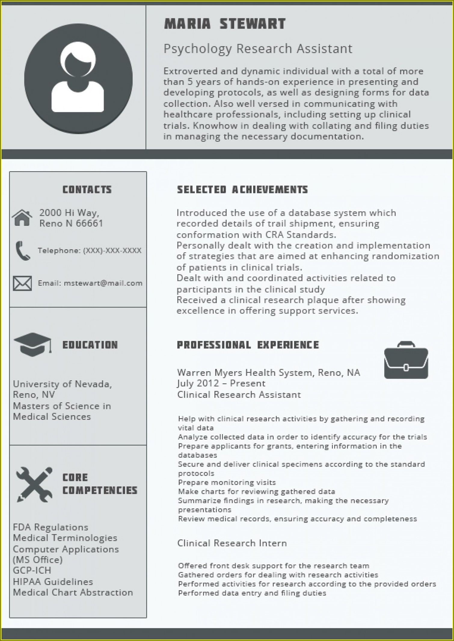 Resume Templates For Professional Engineers