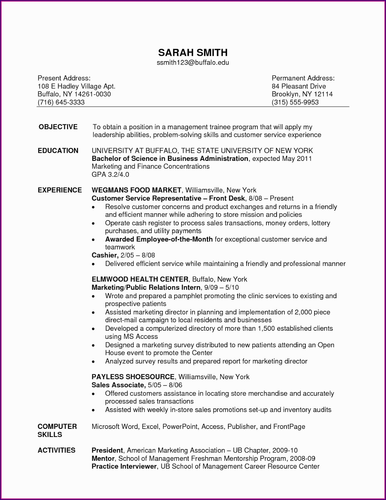 Resume Templates For Sales Consultant