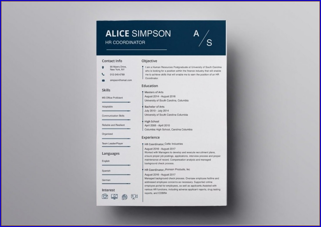 Resume Templates Free Download Mac