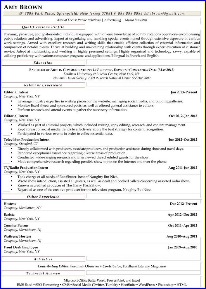 Resume Writers In Baltimore Md