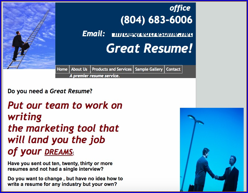 Resume Writing Services In Richmond Va