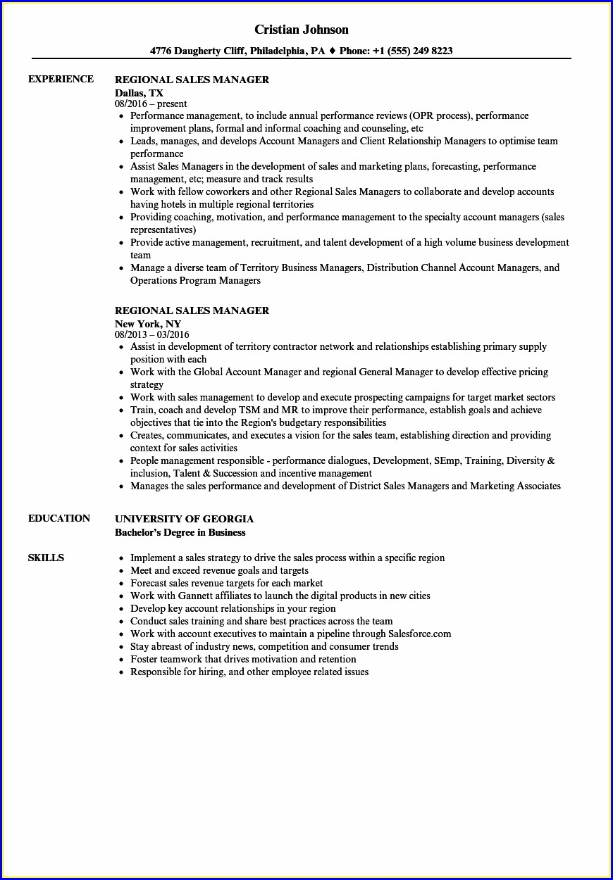 Sample Resume For Area Sales Manager In Pharma Company In India