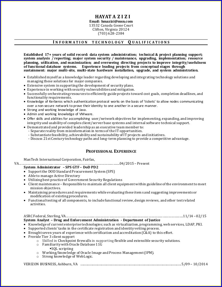 Sample Resume For Banking Job In Canada