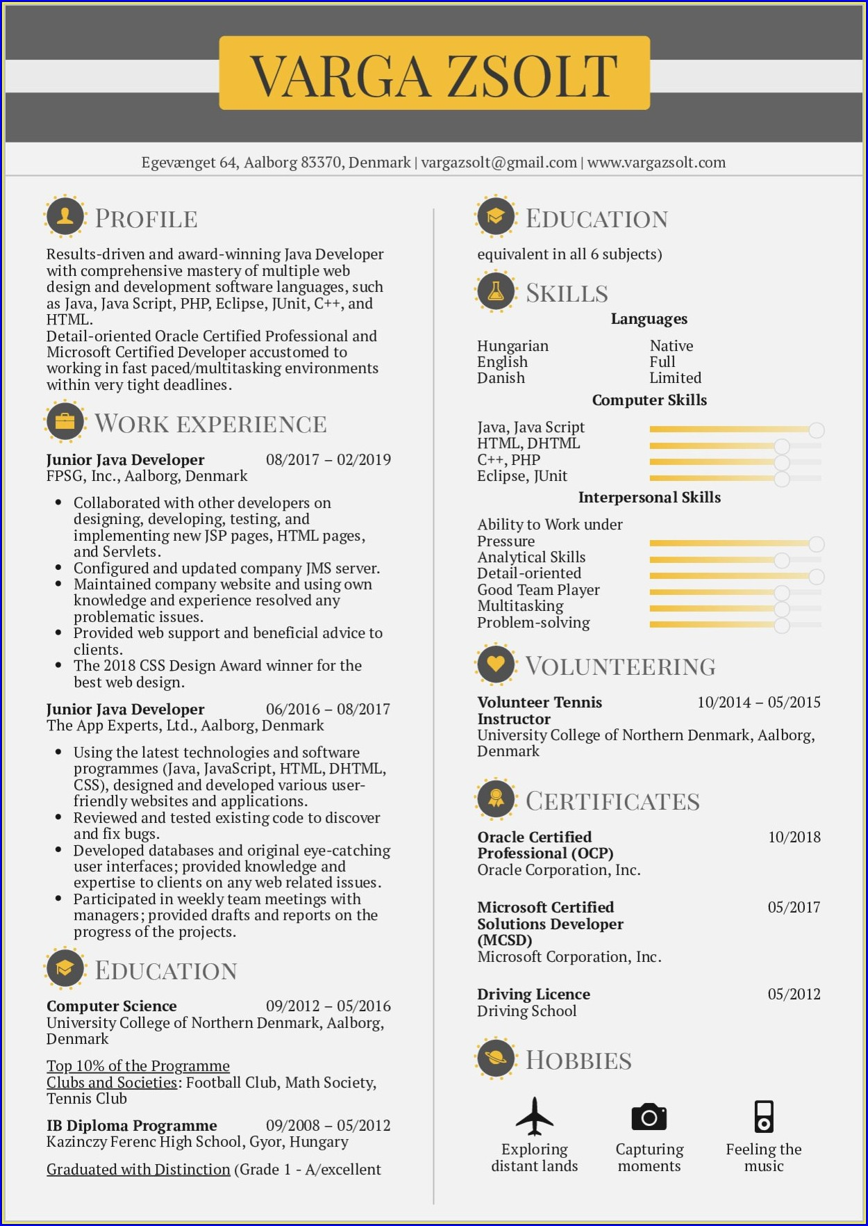 Sample Resume For Experienced Bankers