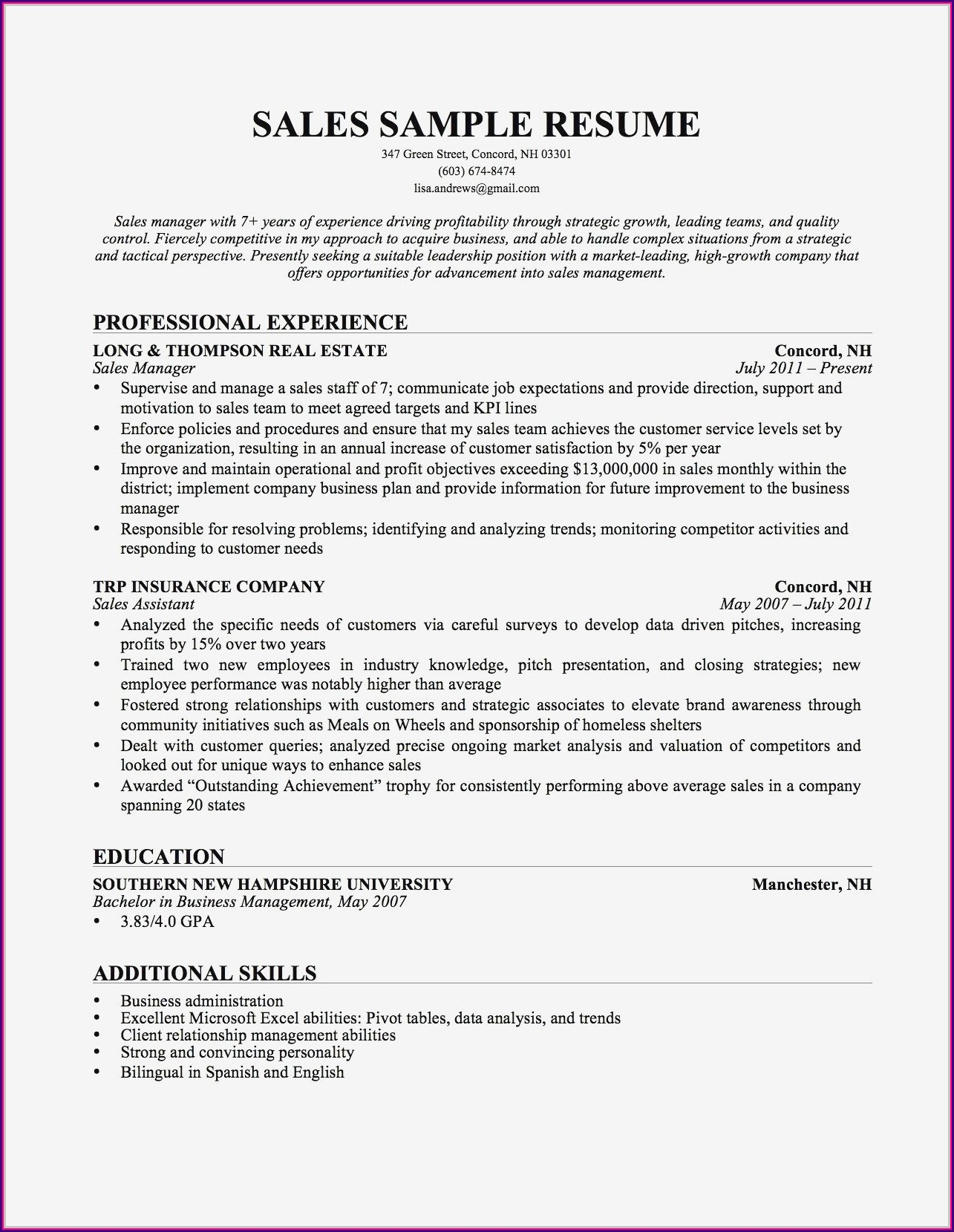 Sample Resume For Healthcare Administrative Assistant