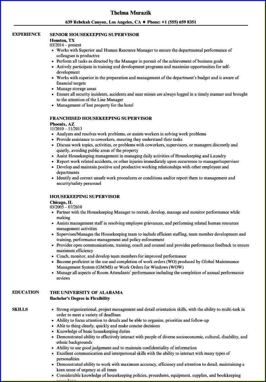 Sample Resume For Hotel Management Fresher