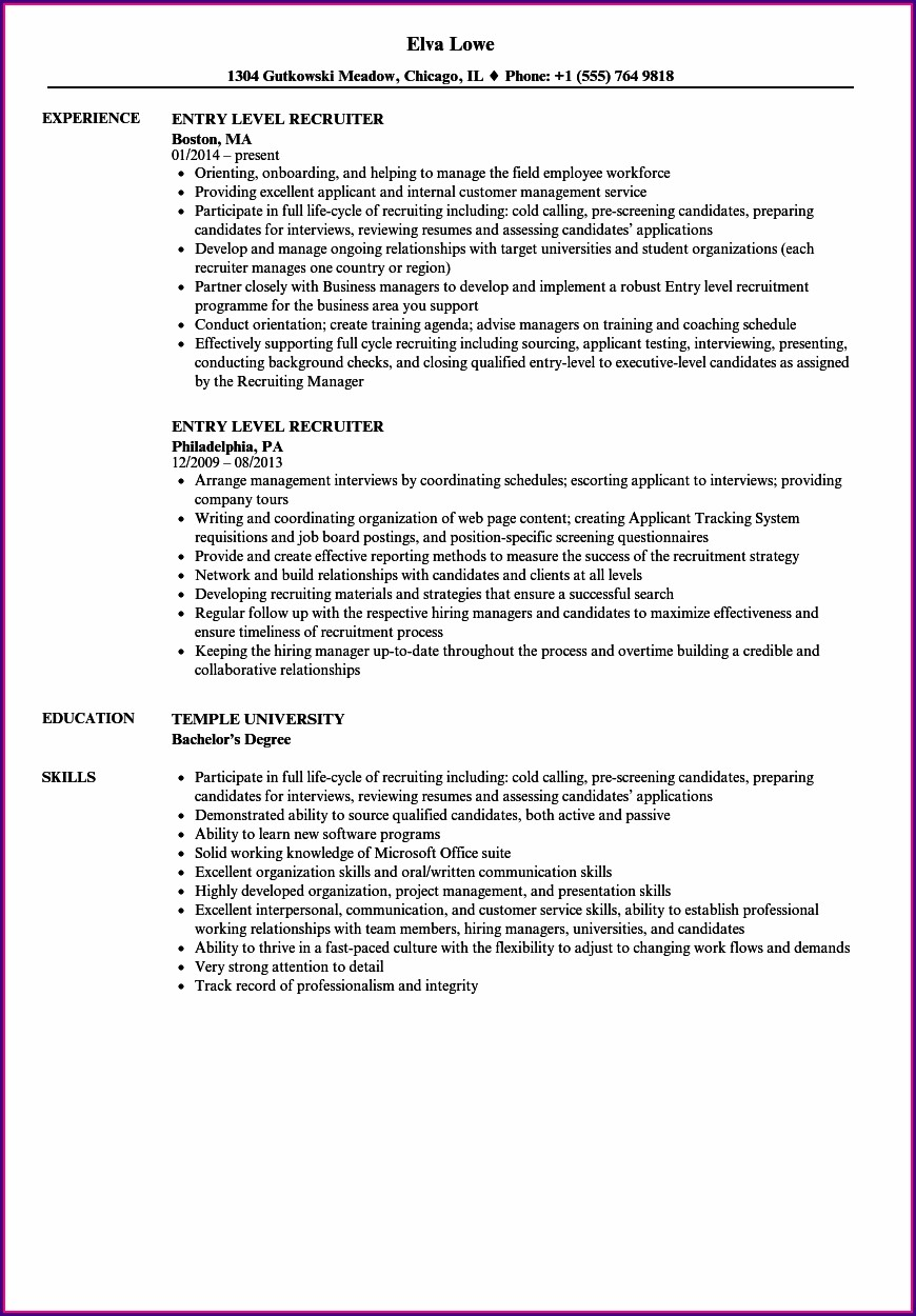 Sample Resumes For Entry Level Accounting Jobs