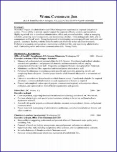 Sample Resumes For Executive Assistant Position