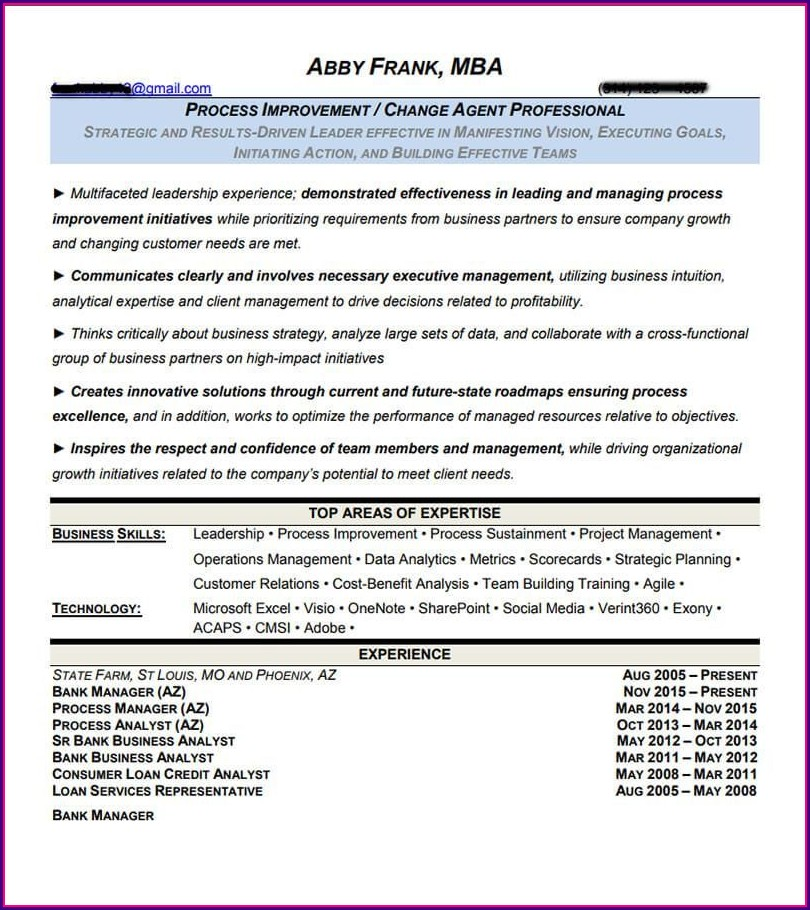 Top Executive Resume Examples