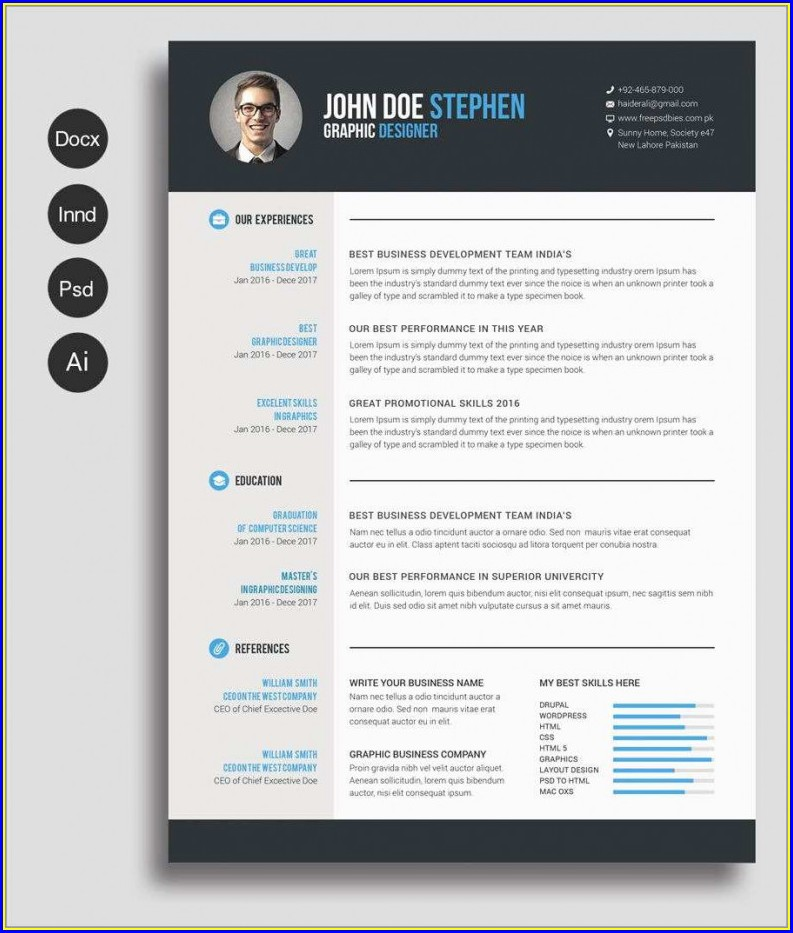 Word Document Cv Template Word Free Download