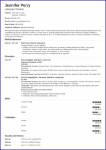 Word High School Resume Templates