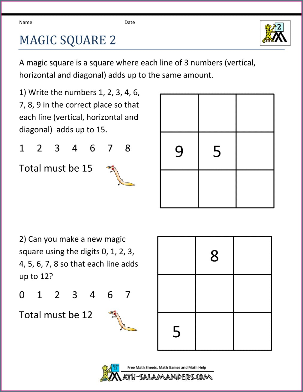 2nd Grade Fraction Worksheets For Grade 2 With Answers