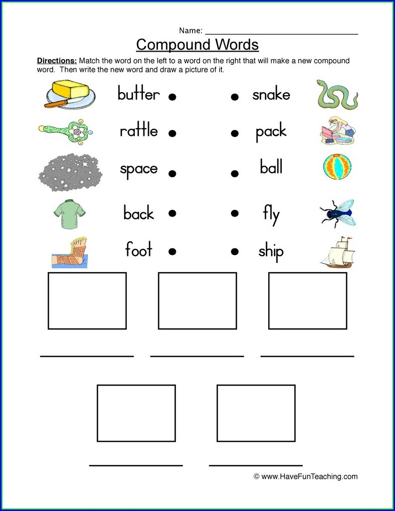 2nd Grade Free Compound Word Worksheets