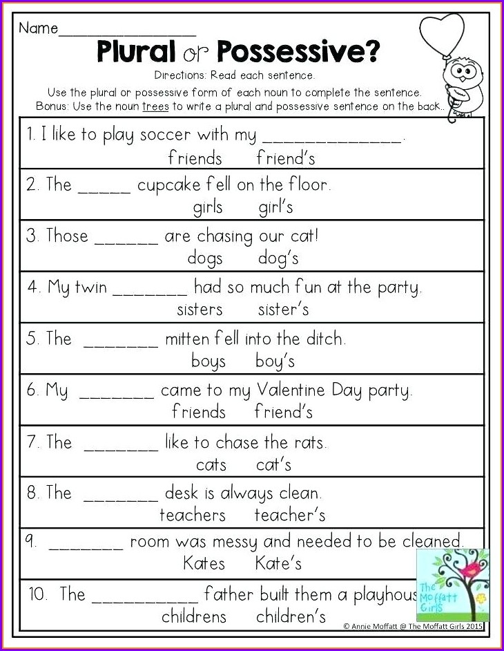 2nd Grade Irregular Plural Nouns Worksheets