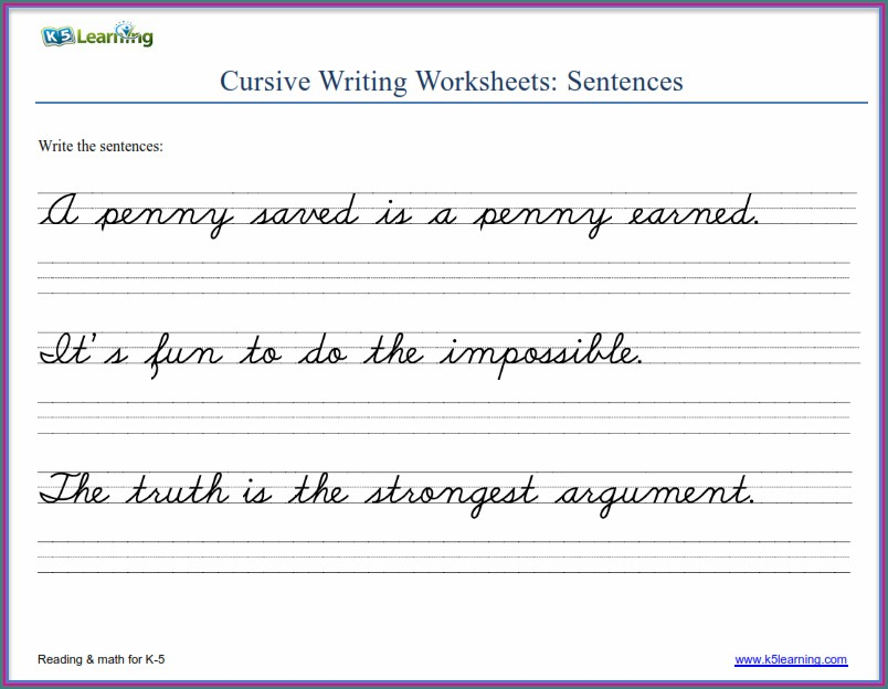 2nd Grade Print Handwriting Worksheets Pdf