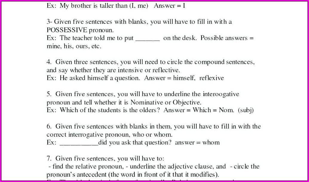 2nd Grade Subject Verb Agreement Worksheets