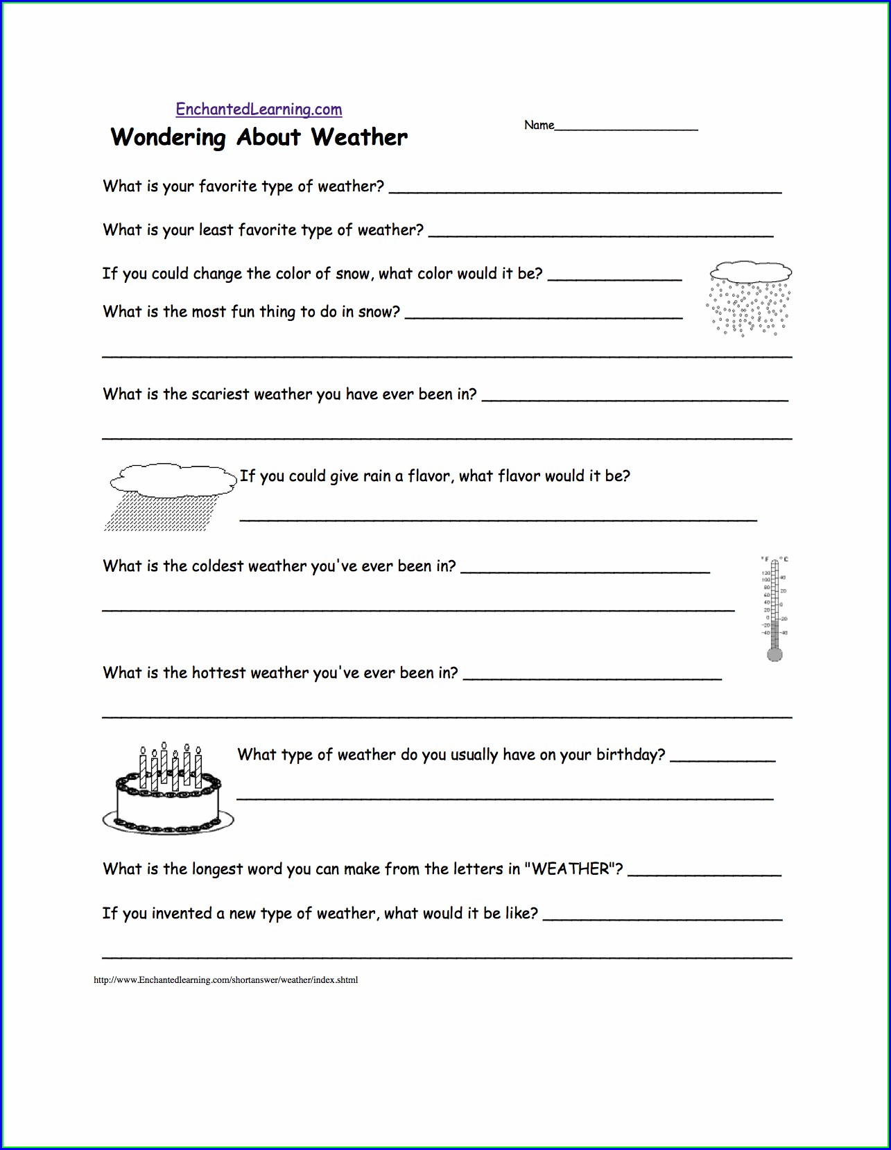 2nd Grade Weather And Climate Worksheets