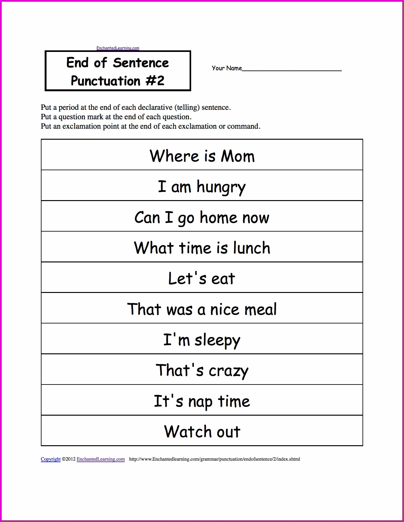 2nd Grade Worksheet On Commas