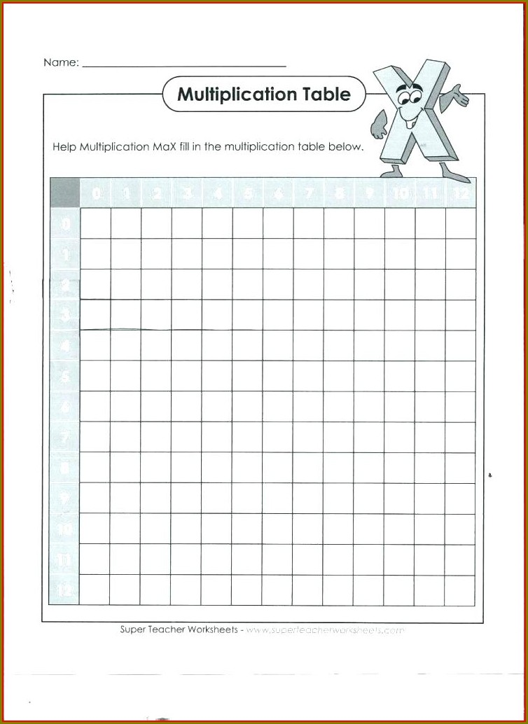 3 Times Table Worksheet Free