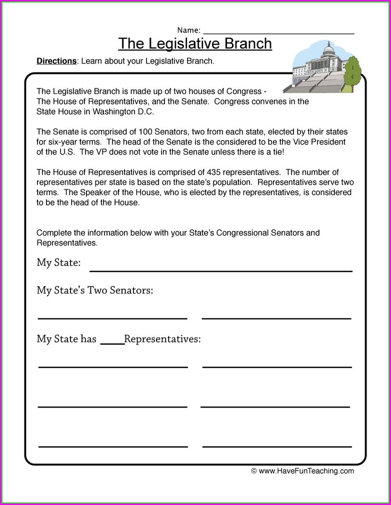 3rd Grade Local Government Worksheets