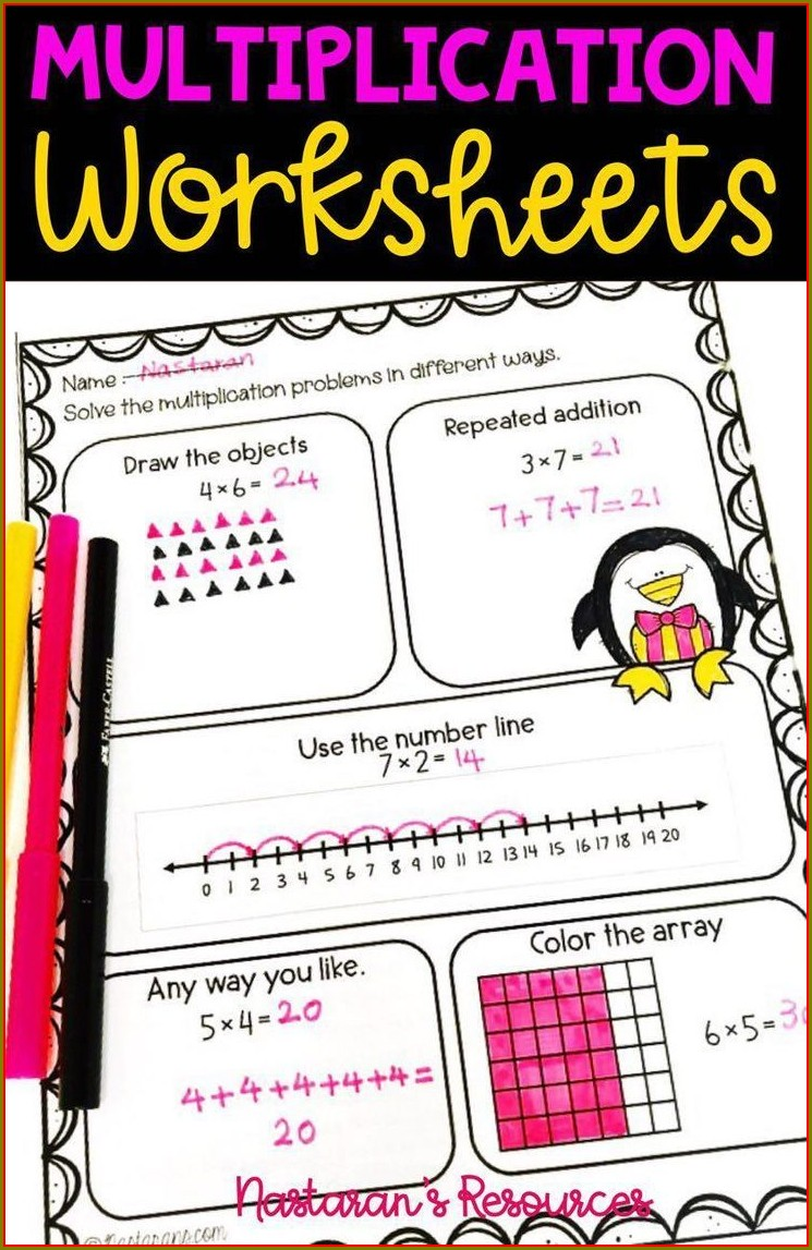 3rd Grade Number Line Addition Worksheets