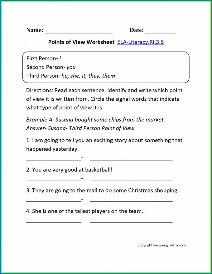 4th Grade Capitalization Worksheet