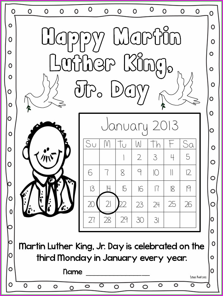 4th Grade Dr Martin Luther King Jr Worksheets