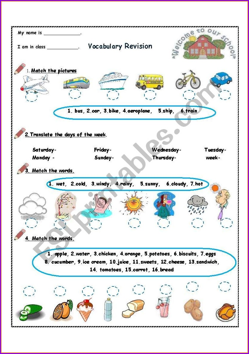 4th Grade English Worksheet For Grade 4