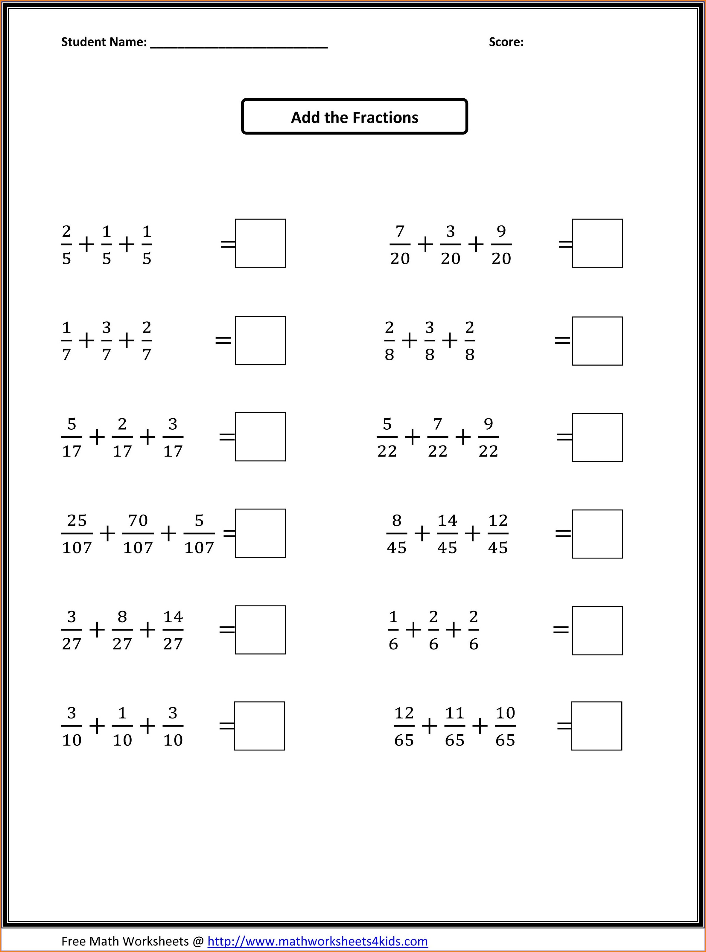 4th Grade Level Multiplication Worksheets