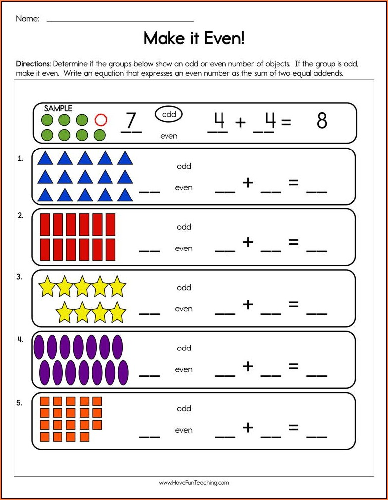 4th Grade Odd And Even Numbers Worksheet