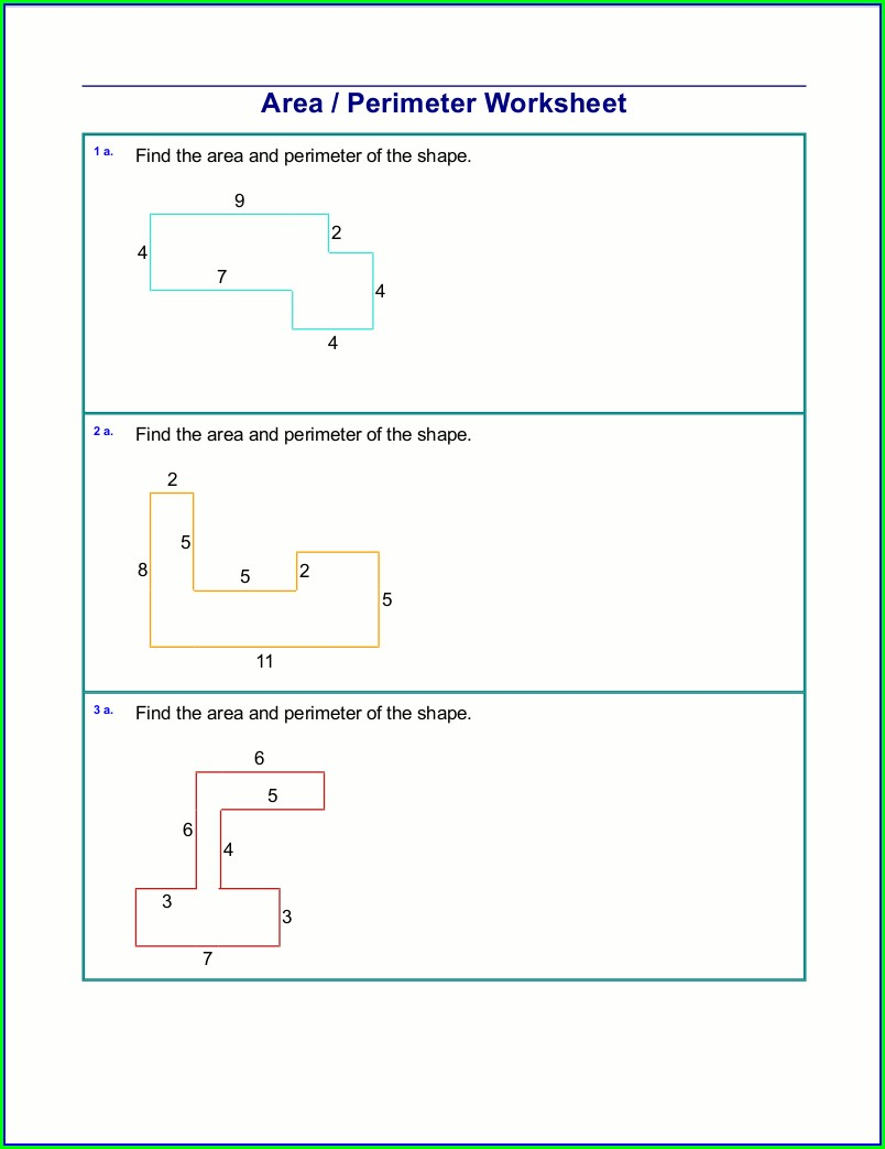 6th Grade Area Of Irregular Shapes Worksheet Pdf